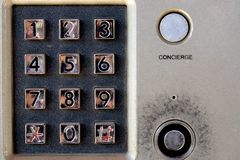 Security system - intercom on building with keypad and lock. Security system - intercom on building with keypad and lock Stock Photos