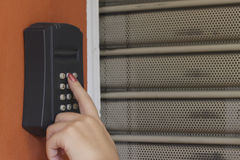 Security system keypad Royalty Free Stock Photography