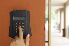 Security system keypad Stock Images