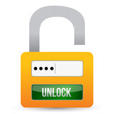 Security system of the lock Royalty Free Stock Photos