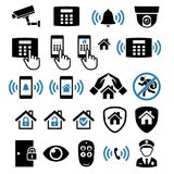 Security system network icons. Vector illustrations. Stock Photo