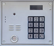 Security system with numpad Royalty Free Stock Image