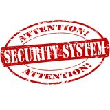 Security system. Rubber stamp with text security system inside,  illustration Royalty Free Stock Photos