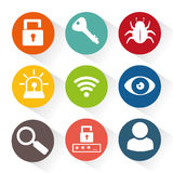 Security system set icons Royalty Free Stock Image