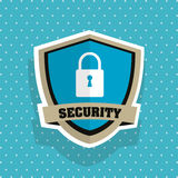 Security system. shield concept. warning illustration Royalty Free Stock Image