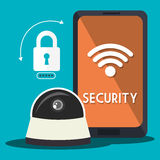 Security System and technologies graphic design Royalty Free Stock Photography