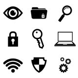Security system and technology. Graphic design, vector illustration Stock Photos