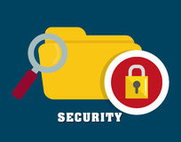 Security system and technology. Graphic design, vector illustration Stock Image