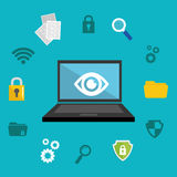 Security system and technology. Graphic design, vector illustration Stock Images