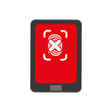 Security system technology. Icon  illustration graphic design Stock Image