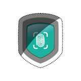 Security system technology. Icon  illustration graphic design Stock Photo
