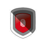 Security system technology. Icon  illustration graphic design Royalty Free Stock Photos