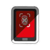 Security system technology. Icon  illustration graphic design Royalty Free Stock Image