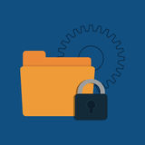Security system technology. Icon vector illustration graphic design Stock Image
