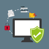 Security system technology. Icon vector illustration graphic design Royalty Free Stock Photo