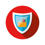 Security system technology. Icon vector illustration graphic design Royalty Free Stock Images