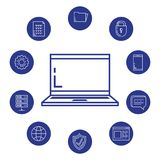 Security system technology icons. Vector illustration design Royalty Free Stock Photos