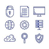 Security system technology icons. Vector illustration design Stock Photos