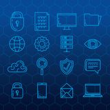 Security system technology icons. Vector illustration design Royalty Free Stock Photo