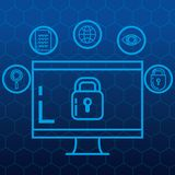 Security system technology icons. Vector illustration design Stock Image