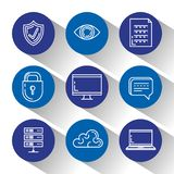 Security system technology icons. Vector illustration design Royalty Free Stock Images