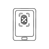 Security system technology. Modem icon  ilustration Royalty Free Stock Photography