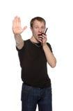 Security talking through cb radio Stock Images