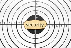 Security target Royalty Free Stock Images