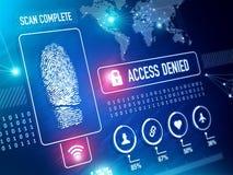 Security Technology Biometrics Scan royalty free illustration