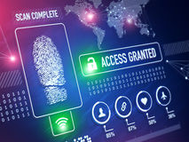 Security Technology. And ID verification concept and background Royalty Free Stock Image