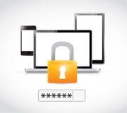 Security technology illustration design Stock Photos