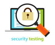 Security testing software development process methodology Stock Photos