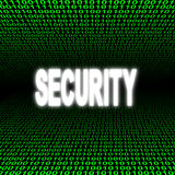 Security text over binary code Royalty Free Stock Photo