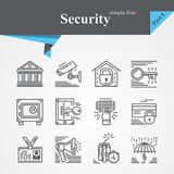 Security thin line icon set. Isolated on a white background.Modern of thin line and flat icons collection .Linear trendy symbols set.Premium quality Royalty Free Stock Photo