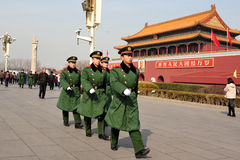 Security in Tiananmen square in Beijing China Royalty Free Stock Photography