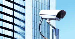 Security TV Camera. Security Camera in a Modern Office Stock Image