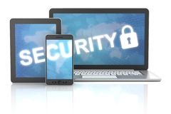 Security of using gadgets, including digital Royalty Free Stock Image