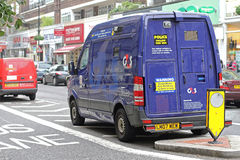 Security Van. LONDON, UNITED KINGDOM - OCTOBER 09, 2010: Security Van For Money Transport. Parket Armoured Vehicle in Central London, England Stock Photography