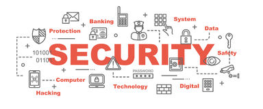 Security vector banner Royalty Free Stock Photo