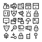 Security Vector Icons 3. We introduce a perfect icons pack of various security objects, They are intended to be used for Security and defense, it contains entire Royalty Free Stock Photo