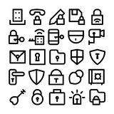 Security Vector Icons 4 Royalty Free Stock Photo