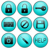 Security vector  web icons Royalty Free Stock Image