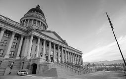 Security Vehicle Sunrise Landscape Utah State Capital Architecture Royalty Free Stock Image