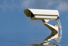 Security video camera. stock image