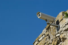 Security video camera. Royalty Free Stock Photography