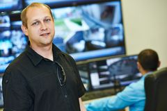 Security video surveillance chief royalty free stock photography