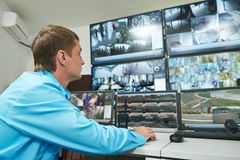 Security video surveillance Royalty Free Stock Image