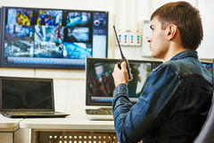 Security video surveillance Royalty Free Stock Photography