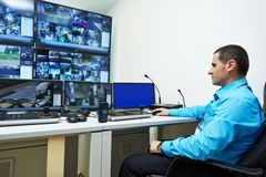 Security video surveillance Royalty Free Stock Images