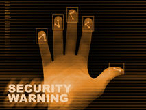 Security warning background Royalty Free Stock Image
